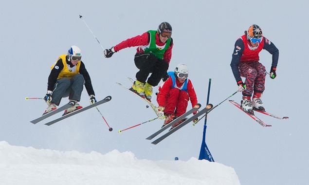 Skicross-Spektakel auf dem Schoberköpfl