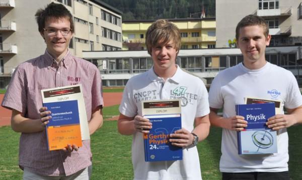 Die 3 Goldmedaillengewinner (v.l.n.r): Landessieger Stephan Troyer, Michael Adamer, Andreas Feichtner