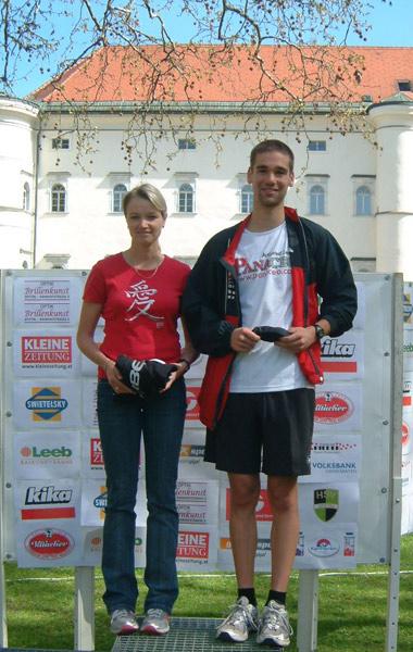 Andrea Oberbichler und Felix Mattersberger schnappten den Kärntnern die Tagessiege weg.