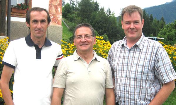 Der neue Vorstand (v.l.): Dirk Dietrich, Präsident Robert Reiner und Hubert Mühlmann