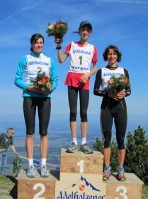 Die erfolgreichen Damen des Hochfelln-Berglaufes: Eva Salnikova, Susanne Mair und Barbara Häsch. (v.l.)