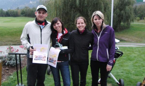 Der Siegerflight: Florian Pogatschnigg, Angelika Ortner, Silvia Presslaber und Andrea Liebhardt