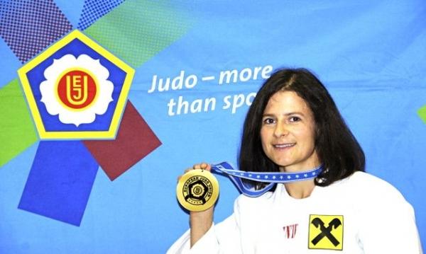 Die frischgebackene Europameisterin im Judo Elisabeth Waldner-Wenzel