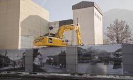 Historische Fotos verhüllen Mühlenareal