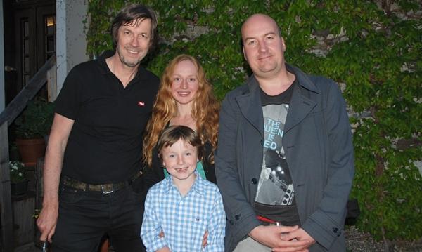 Johannes Köck, Brigitte Hobmeier, Samuel Jung und Dirk Regel drehen in Osttirol. Foto: Cine Tirol