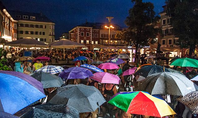 Moonlight Raining In Der Lienzer Innenstadt