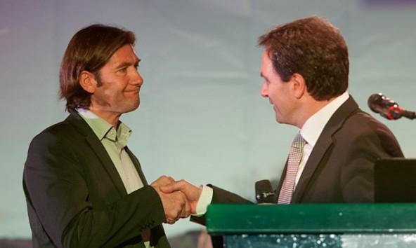 Martin Gratz (links) und Franz Theurl sind auch vier Monate nach der TVBO-Wahl nicht einer Meinung. Foto: Martin Lugger
