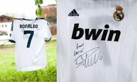 Christiano Ronaldo signierte Originaltrikot für Jalimo