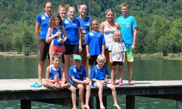 Gut im Wasser und auf dem Trockenen – die jungen Lienzer Figaro-SportlerInnen.