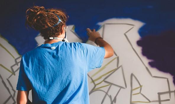 Wie wird das Graffiti am Ende aussehen? Am 2. August ist Vernissage!