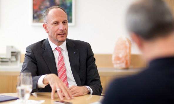 Johann Kollreider, Vorstand der Hypo Tirol Bank AG im Dolomitenstadt-Interview. Foto: Martin Lugger