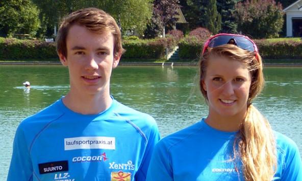 Michael Singer und Klara Fuchs sind im Triathlon europareif.