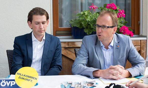 Vor den Landtagswahlen hatte Kurz noch kurzfristig abgesagt. Jetzt hilft er Martin Mayerl bei der Jungwähler-Mobilisierung.