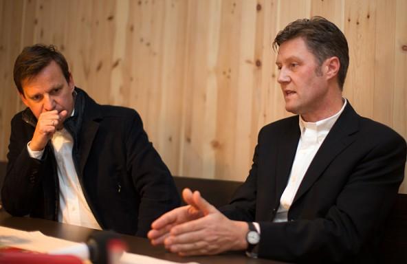 """Die Kalser """"Hausarchitekten"""": Erich Lengauer und Peter Schneider."""