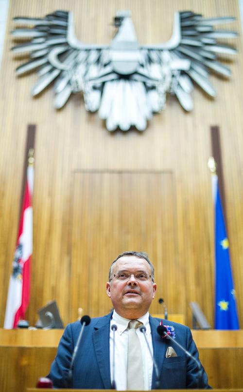 Spricht künftig unter dem Bundesadler: Gerald Hauser. Fotos: Expa/Gruber