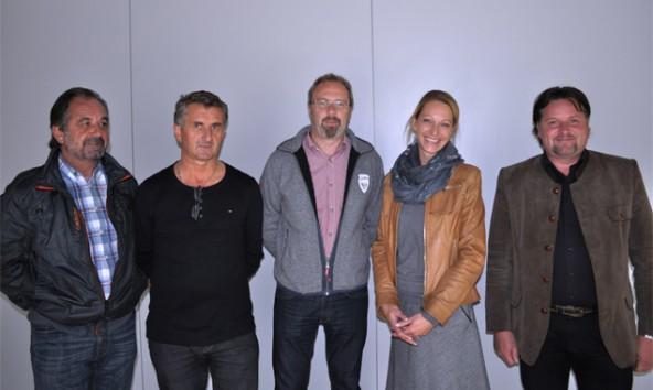Von links: Oswald Fürhapter, Helmuth Bachlechner, Otto Trauner, Barbara Nußbaumer, Martin Fürhapter.