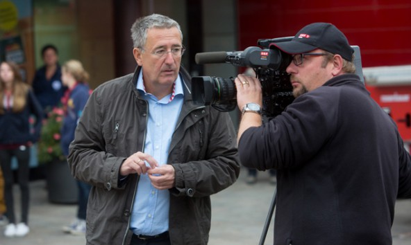 ORF-Redakteur Robert Hippacher und Kameramann Markus Mayr.