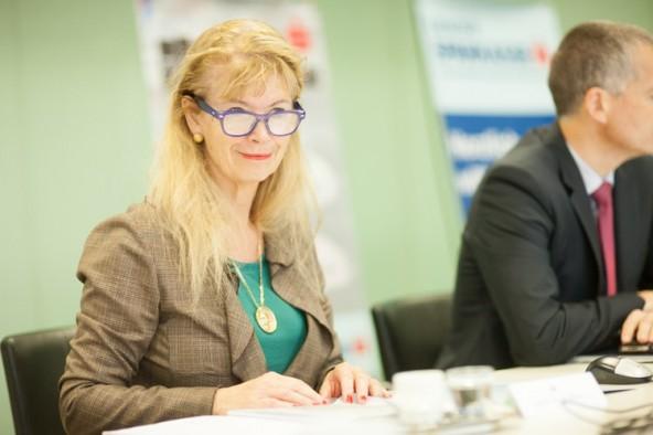 """Ursula Strobl vertritt die Schulen in der Jury von """"Talent Scout 2014""""."""