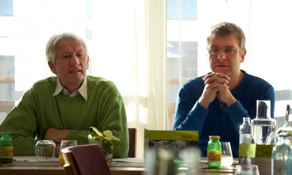 """Joachim Defregger und Wolfgang Steiner sprechen für das """"Team Osttirol"""" im TVBO."""