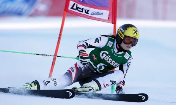 Anna Fenninger war auch 2013 im Riesentorlauf auf dem Hochstein in Lienz nicht zu schlagen. Foto: Expa/
