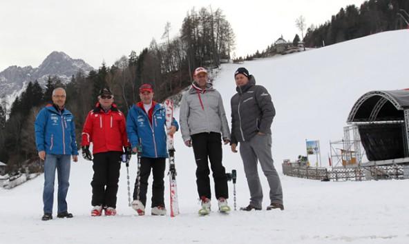v.l.n.r.: OK-Chef Werner Frömel, FIS-Delegierte Gorazd Bedrac, Klaus Hofstätter (Lienzer Bergbahnen) und Rupert Steger vom ÖSV. Foto: Werner Moritz
