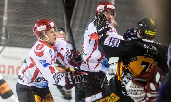 Die Partie gegen Velden war von ruppigen Szenen und falschen Schiedsrichterentscheidungen geprägt. Foto: Brunner Images