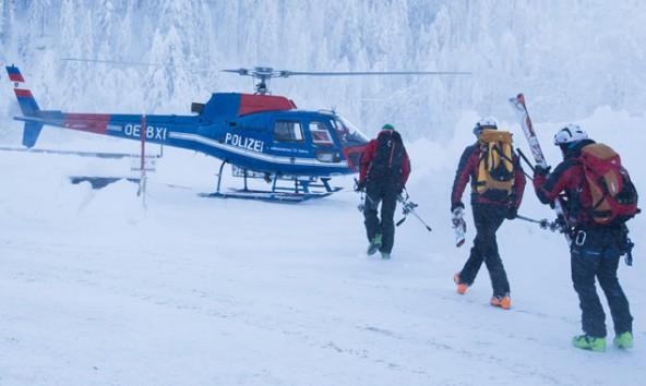 Alpinpolizei, Notarzt und Bergrettung waren im Einsatz. Fotos: Brunner Images