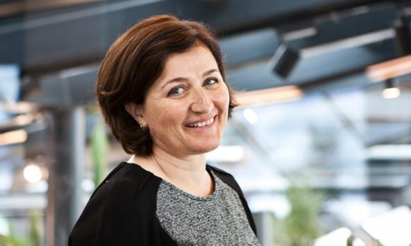 """Die neue Durst-Managerin Barbara Schulz bei ihrer Vorstellung im """"Durst-Kristall"""". Fotos: Ramona Waldner"""