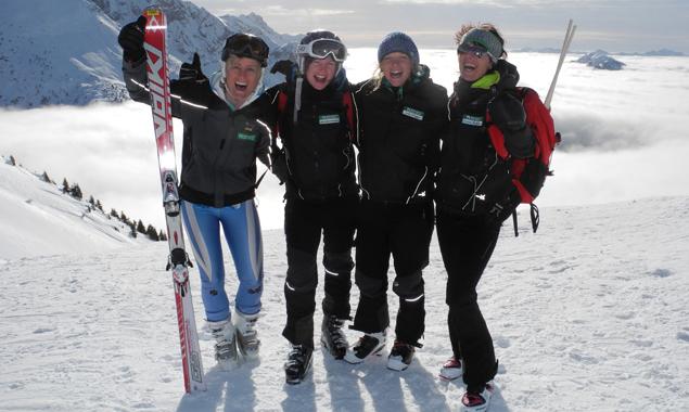 Das erfolgreiche Damenteam v.l.n.r.: Rebecca Egger, Maria Mattersberger, Anna Brugger, Christina Wurzacher. Foto: Nationalpark