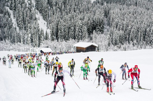 1500 Läuferinnen und Läufer nahmen den Bewerb im klassischen Stil in Angriff. 42 oder 20 Kilometer waren die zu bewältigenden Distanzen. Fotos: Expa/Martin Gruber