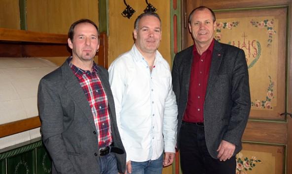 Die FSG-Arbeitnehmervertreter der Liste 2, von links: Stefan Mair, Martin Strasser und Günther Mayr.