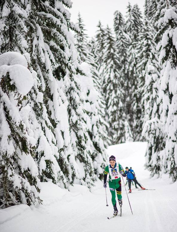 """Die Bedingungen in Obertilliach sind """"tiefwinterlich"""", allerdings machte einsetzender Regen den Läufern gegen Ende des Rennens das Leben schwer. Das Wachs wurde zur entscheidenden Komponente."""