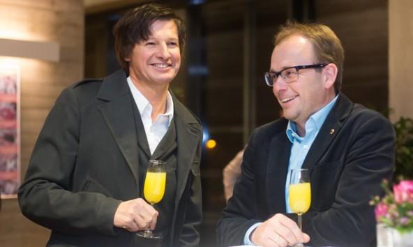 Christian Zanon und Martin Mayerl verstehen sich gut, auch über bündische Grenzen hinweg. Foto: Brunner Images