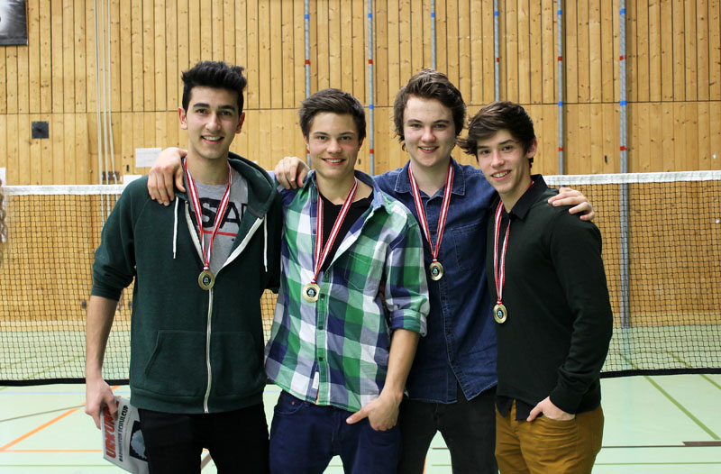 Das HAK-Siegerteam der Burschen v.l.: Alim Yürekli, Elias Schneider, Michael Christof und Leonardo Bergmann. Foto: Alim Yürekli