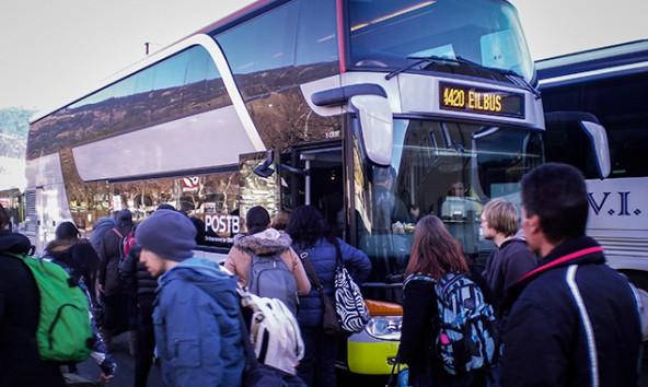Post AG und Ötztaler Verkehrsgesellschaft betreiben derzeit den Doppelstock-Verkehr zwischen Lienz und Innsbruck. Er wird auf acht Jahre neu ausgeschrieben. Foto: VVT