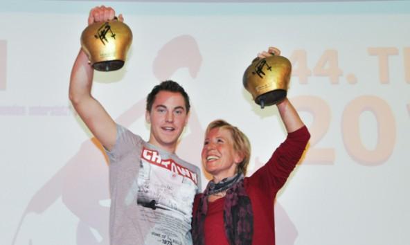Die Tagessieger, der Osttiroler Mario Tiefenbacher und Inge Niedermühl-Bichler aus Schwaz. Fotos: Kolping Lienz/mag