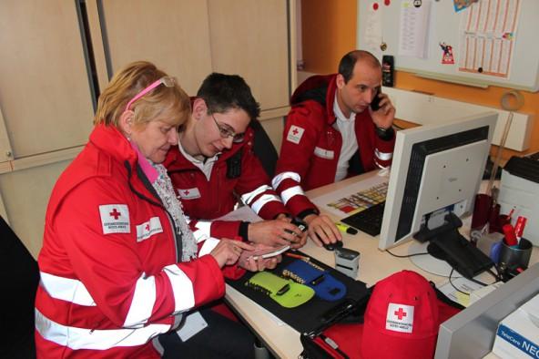 Auch das Rote Kreuz ist für weiteren Schneefall gewappnet.