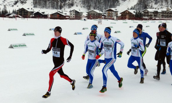 Zu Beginn des Wettbewerbs stellte der Osttiroler seine Laufstärke unter Beweis, erst beim Langlaufen musste er sich einem russischen und zwei italienischen Spezialisten geschlagen geben.
