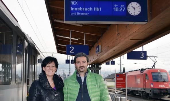 Andrea Haselwanter-Schneider und Markus Sint bleiben dabei: Der Zug war besser.