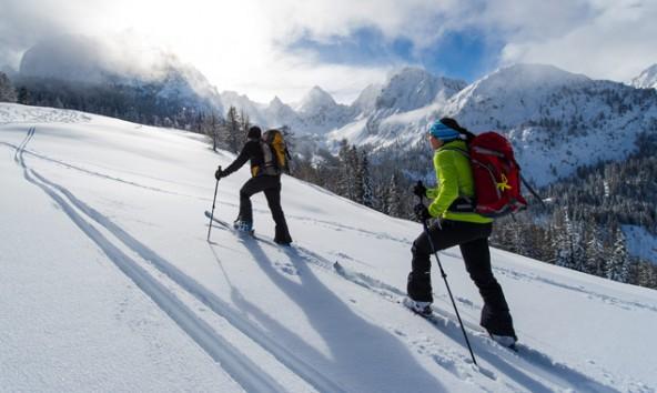 Besonders in Höhenlagen über 2300 Meter sollten Tourengeher auf die Gefahr von Gleitschneelawinen achten. Foto: Expa/Michael Gruber