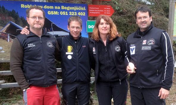 Erfolgreich mit dem Bogen: Walter Seiwald, Mario Trojer, Andrea Wallensteiner und Hannes Gailer (von links).