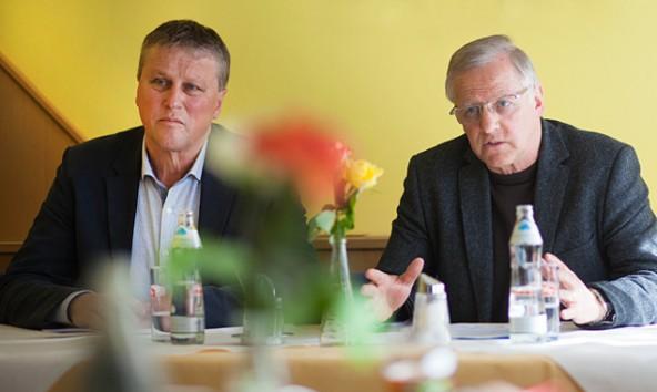 Sepp Mayr (links) leitet den Planungsverband Lienzer Talboden, Erwin Schiffmann jenen im Pustertal. Foto: Dolomitenstadt/Egger