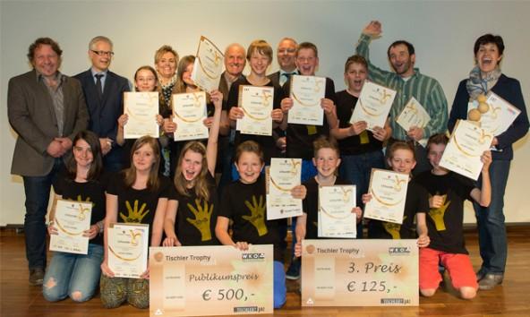 Gewinner des Publikumspreises: Die Neue Mittelschule Lienz-Nord freute sich über ihre Auszeichnung. Foto: Christian Forcher