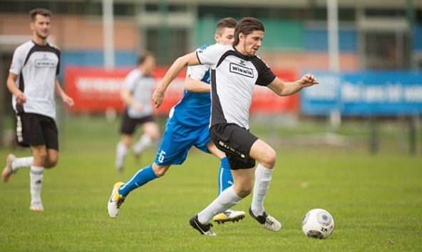 Die Kicker des FC-WR bewegten sich gegen Villach druckvoll in Richtung Tor und Top-Tabellenplatz. Foto: Brunner Images