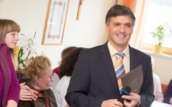 Er managt ein Sozialunternehmen mit 318 Beschäftigten: Franz Webhofer.