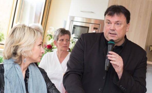 Der Matreier Bürgermeister Andreas Köll und die Lienzer Bürgermeisterin Elisabeth Blanik bei der Eröffnung.