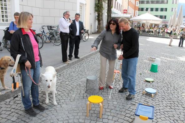 """Auch Blind Climber Andy Holzer besuchte eine """"einzigARTig""""-Veranstaltung. Foto: Stadt Lienz/Lenzer"""