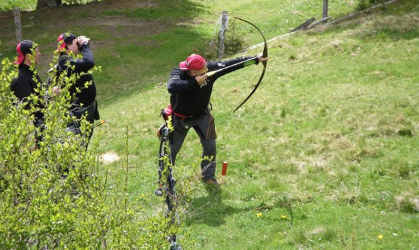 In Matrei i.O. erwartete die Bogensportler eine sechsstündige Herausforderung. Fotos: BSV Iseltal