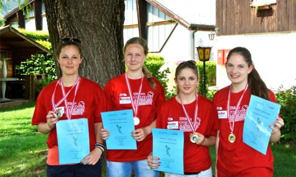 Die Damen des Siegerteams v.l.: Patrizia Abfalterer, Julia Schmuck, Melanie Fiechtner, Carina Fiechtner. Foto: Magreth Wolfinger