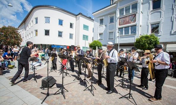 """""""Jazz we can"""" besteht aus Schülern der Landesmusikschule Lienzer Talboden. Foto: Stadt Lienz/Philipp Brunner"""